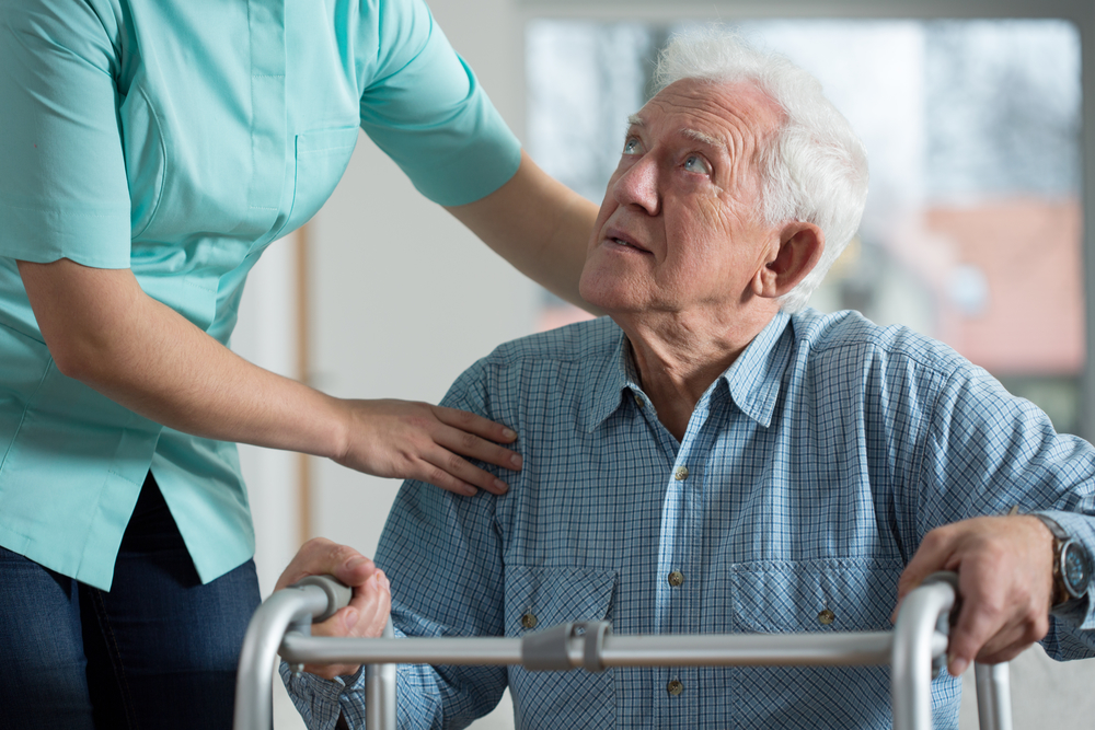 пенсионер с инсультом